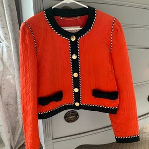 Escada Vintage Red Silk Quilted Jacket